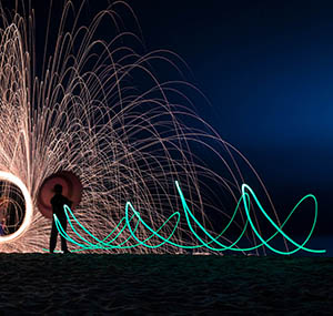 Inspiration polaire deco light painting