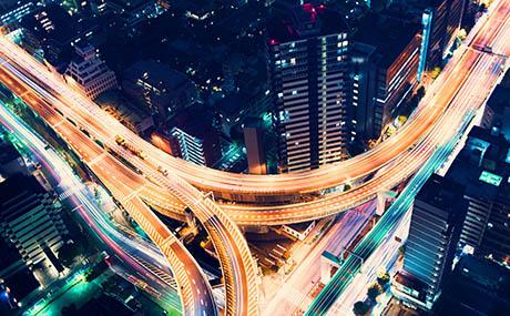 Inspiration urbain deco réseau routier nuit