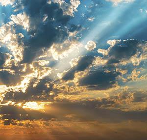 Inspiration polaire deco ciel lumineux