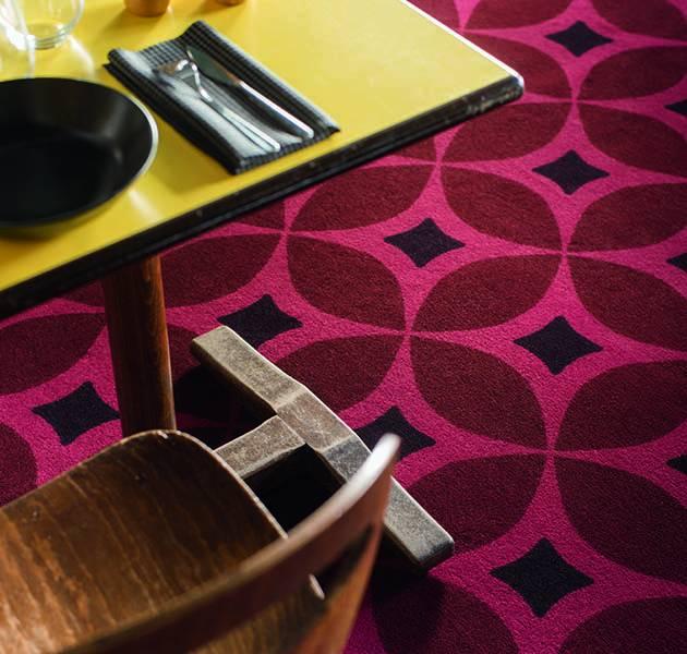 Collection Duo 4 moquette retro detail restaurant