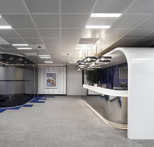 Inspiration Grande Reference office dalles Landscape groove rift couloir accueil bureaux