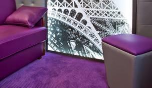 Conseils choisir Hotel salon colore violet