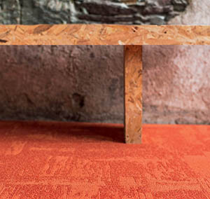 Collection Infini colors moquette dalle Rock orange