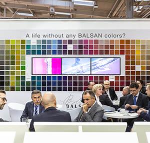 Valeurs balsan entreprise salon mur de couleurs