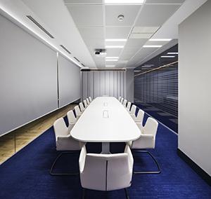 Inspiration Grande Reference office dalles Landscape groove rift couloir salle de reunion