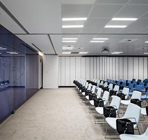 Inspiration Grande Reference office dalles Landscape groove rift couloir salle de conference