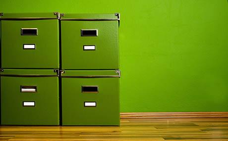 Inspiration couleurs deco casiers vert
