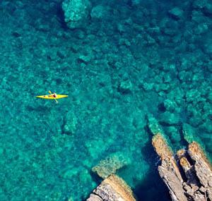 Inspiration deco ocean vu du ciel canoe mer