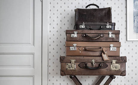 Inspiration patines deco valises cuir